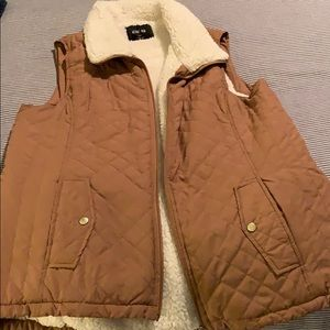 Awesome brown lined vest!